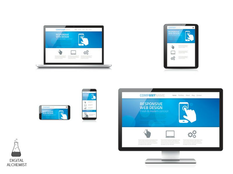 responsive web site design mobile first template