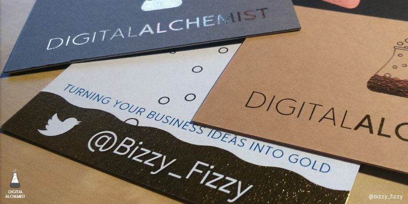 gold foiled business card - how to impress