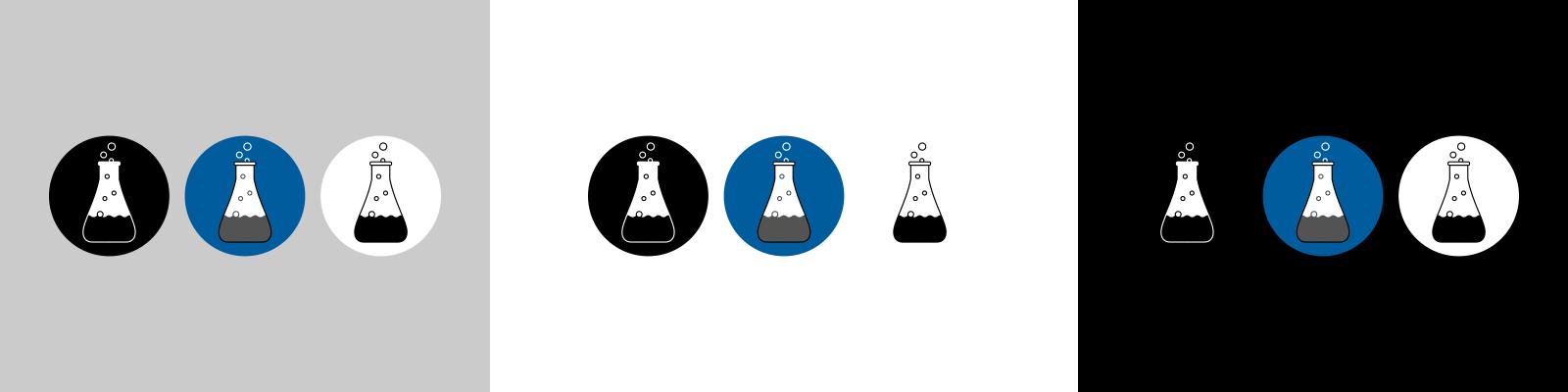 digital alchemist brand logo design colour variations