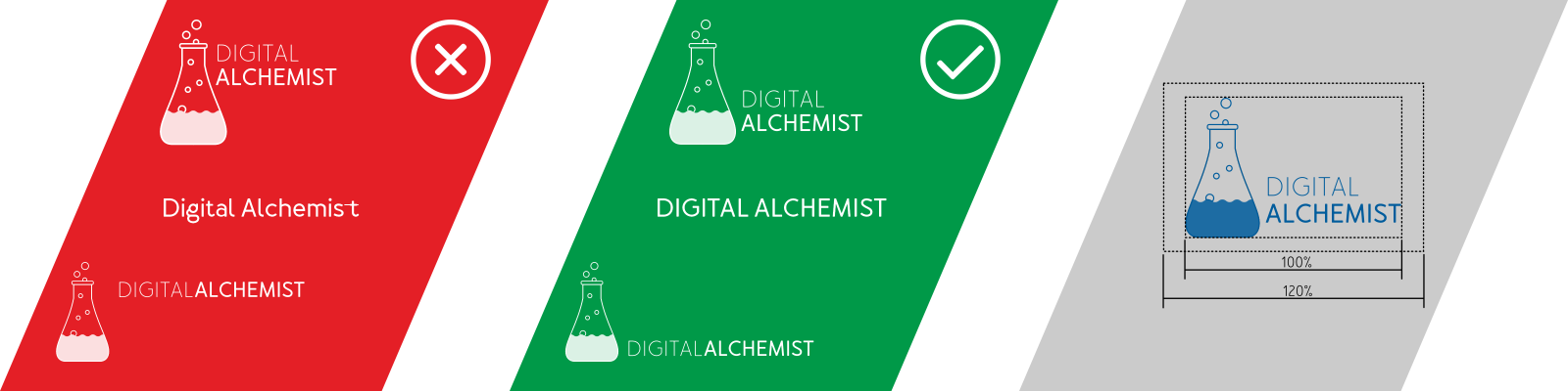 digital alchemist brand logo design configurations